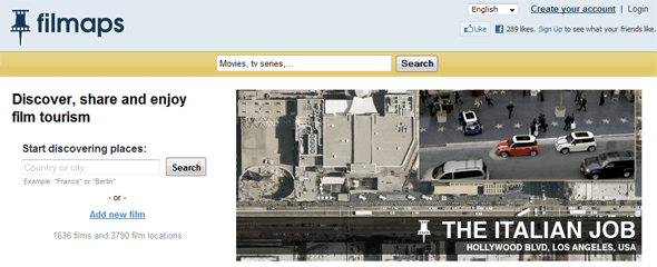 Filmaps  - Film locations - Movie locations - Startup Featured in StartUpLift
