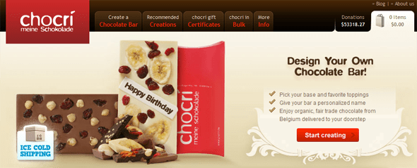 chocri customized chocolate bars - startup featured on StartUpLift