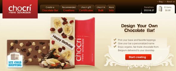 chocri customized chocolate bars - startup featured on StartUpLift
