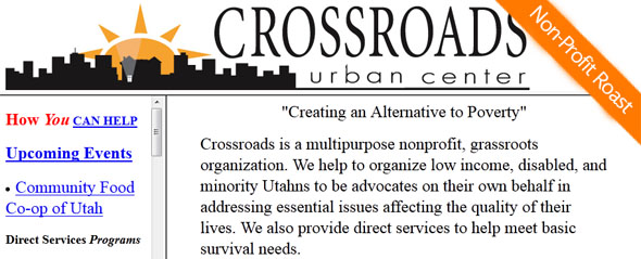 Crossroads Urban Center - non-profit featured on StartUpLift for website feedback - StartUpLift Non-Profit Roast