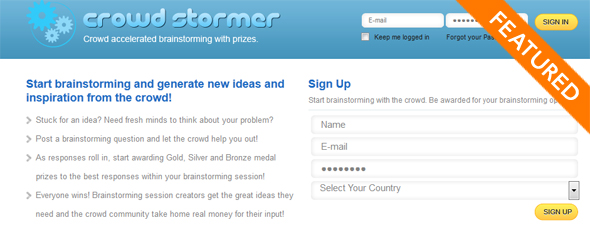 CrowdStormer - Startup Featured on StartUpLift for Startup Feedback