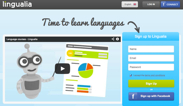 lingualia - startup featured on startuplift for website feedback & startup feedback