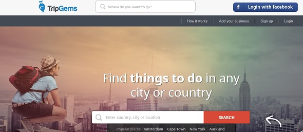 tripgems - startup featured on StartUpLift for feedback