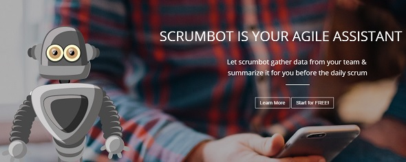 Scrumbot - startup featured on StartUpLift for startup and website feedback
