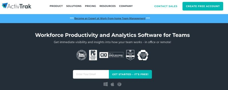 ActivTrak - One Of The Best Remote Employee Monitoring Software