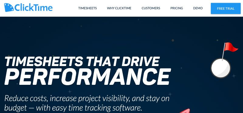 ClickTime - Best Remote Employee Monitoring Software
