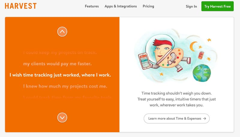 Harvest - One Of The Best Remote Employee Monitoring Software