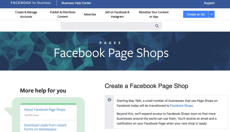How to Create A Facebook Page Shop