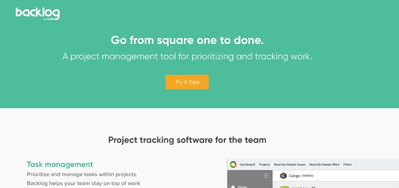 backlog - best issue tracking software
