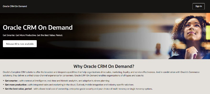 Oracle On-Demand - Best CRM Software