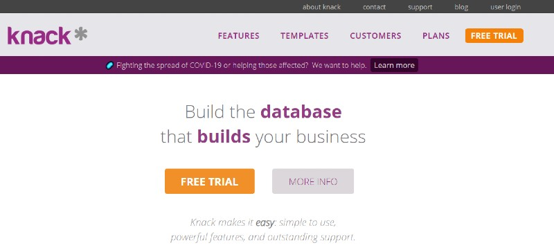 Knack - Best Database Software