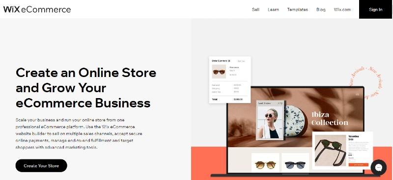 wix - Best E-Commerce Website Builders