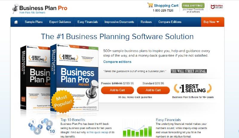 Business Plan Pro - Best Business Plan Software