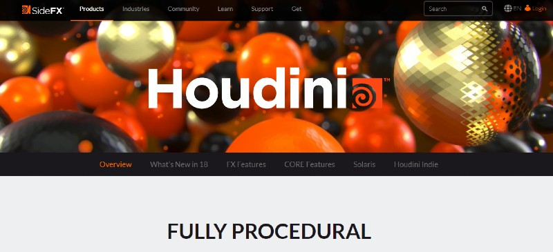 Houdini - Best Motion Graphics Software
