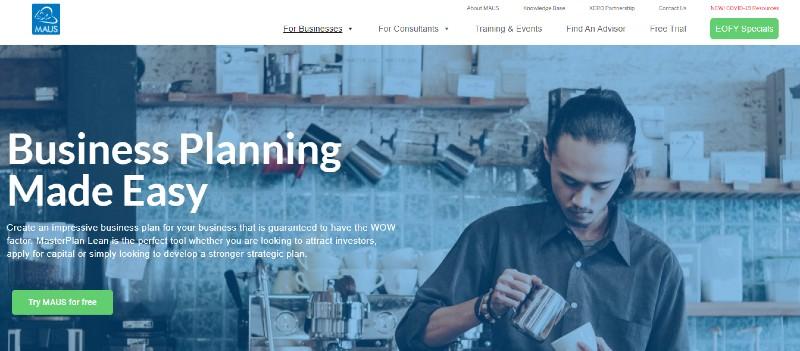 Maus - Best Business Plan Software