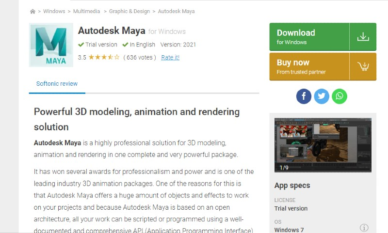 Maya - Best Motion Graphics Software
