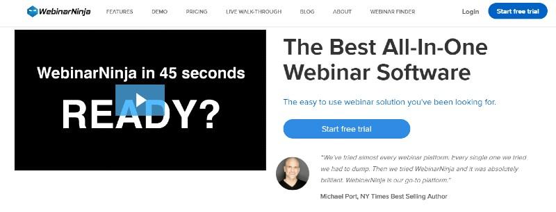 WebinarNinja - Best Webinar Software
