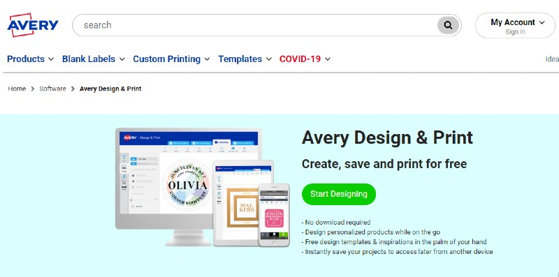 Avery Design and Print - Best Label Designing and Printing Software