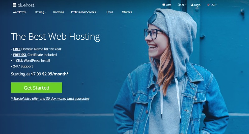 Bluehost- The Best Domain Registrars