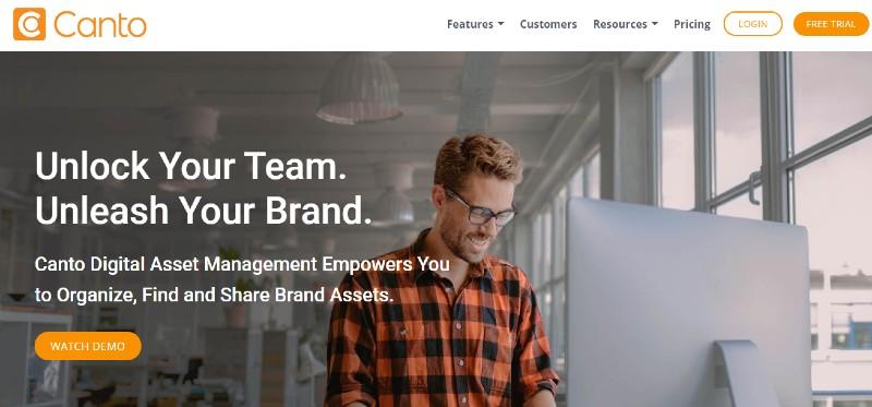 Canto - Best Digital Asset Management Software