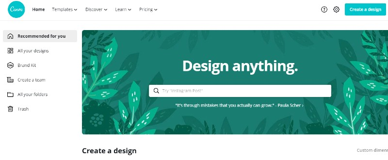 Canva - Best Label Designing and Printing Software
