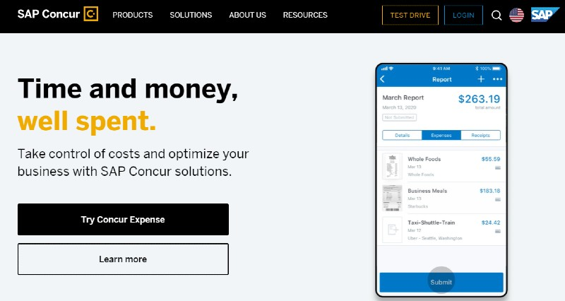 Concur - Best Expense Tracking Services