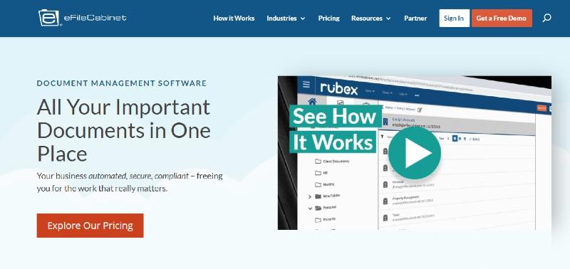 eFileCabinet - Best Document Management Software