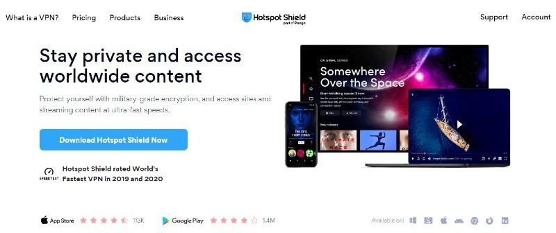 Hotspot Shield - Best VPN Service Providers