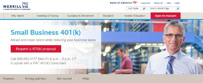 Merrill Edge - Best Small Business 401k Plans