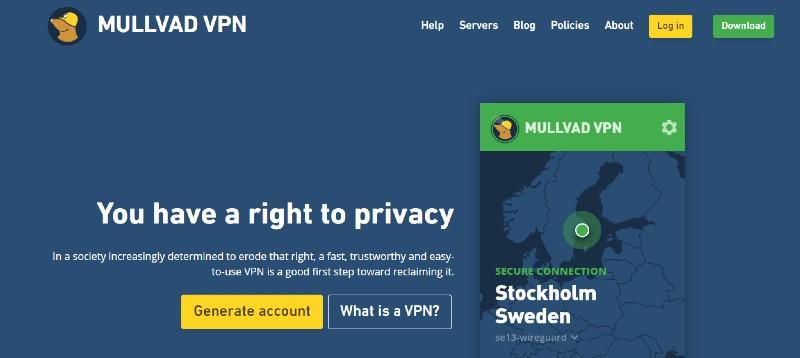 Mullvad - Best VPN Service Providers