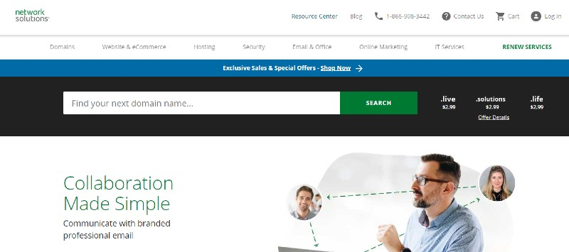 Network Solutions - The Best Domain Registrars