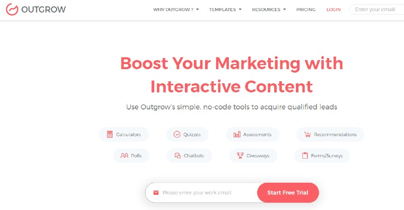 Outgrow - Best Content Creation Tools