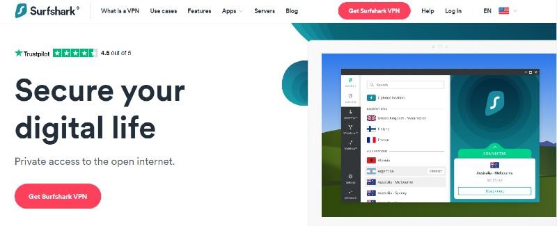 Surfshark - Best VPN Service Providers