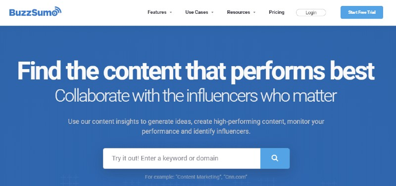 Buzzsumo - How to Come up with Content for Your Business Blog Posts