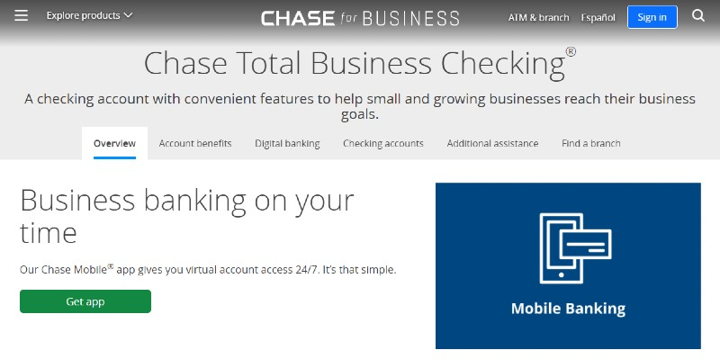 Chase - Best Business Checking Accounts for Entrepreneurs