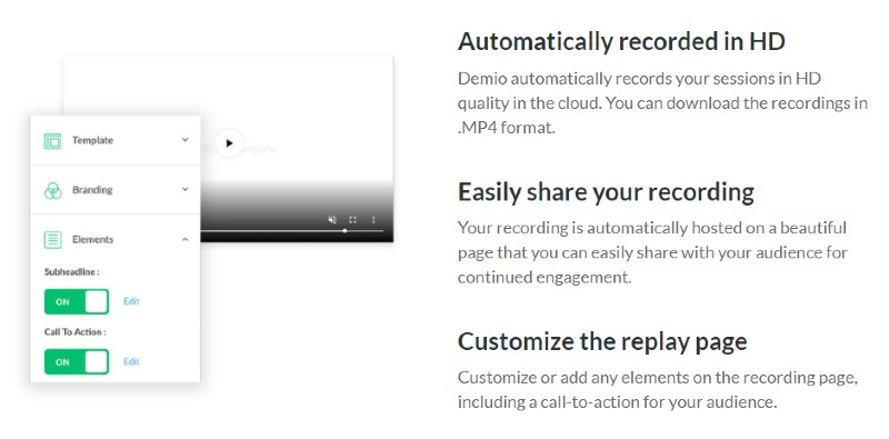 Recording and Replay Pages - Demio Review: Webinar Software for Marketers