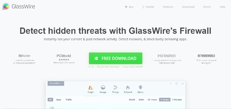 GlassWire - Best Small Business Firewall