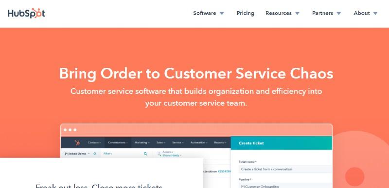 Hubspot service hub - Best Help Desk Software