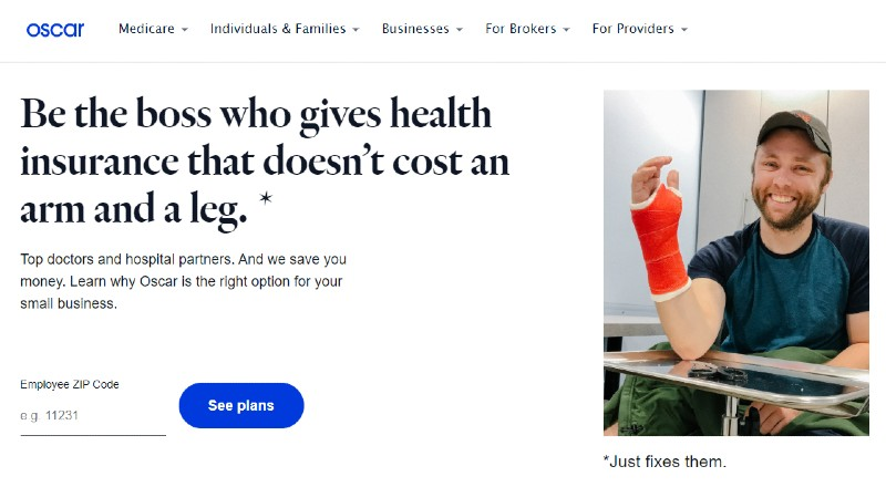 Oscar Health - Best Small Business Health Insurance