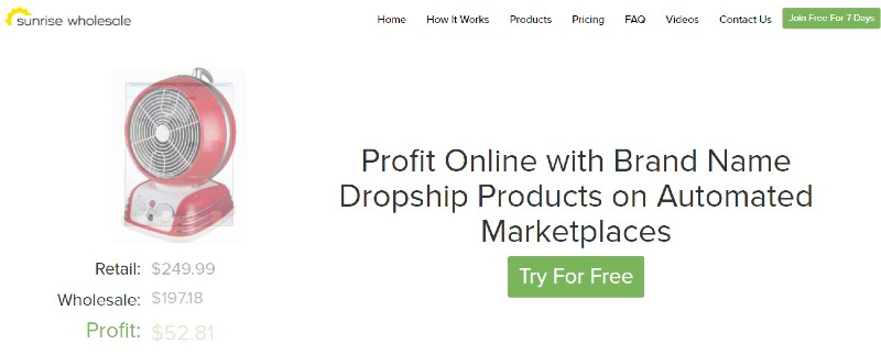 Sunrise Wholesale - Best Dropshipping Companies for your eCommerce Business