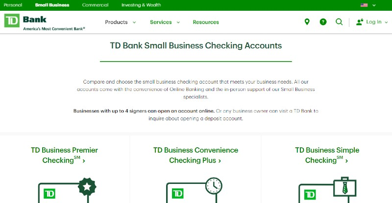 TD Bank - Best Business Checking Accounts for Entrepreneurs