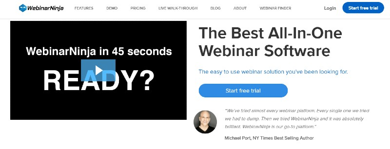 Demio vs WebinarNinja - Demio Review: Webinar Software for Marketers