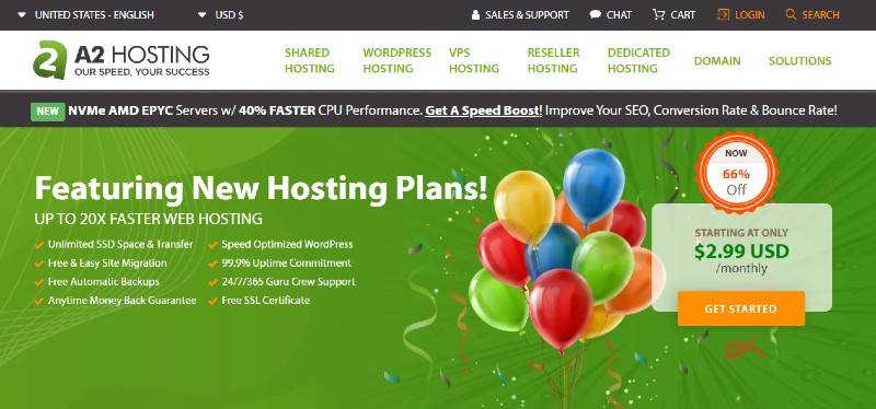 A2 Hosting - Best Web Hosting for Small Businesses
