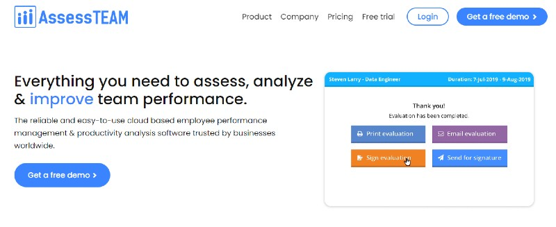 AssessTeam - Best Performance Management Software