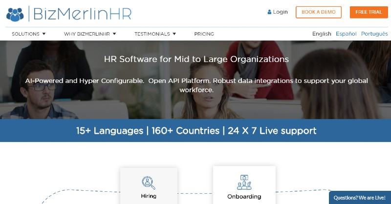 BizMerlin HR - Best Performance Management Software