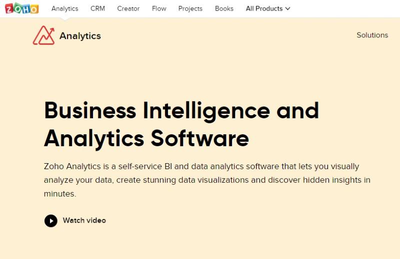 Zoho Analytics - Best Data Analytics Software