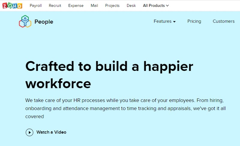 Zoho People - Best Human Resources Software for Startups