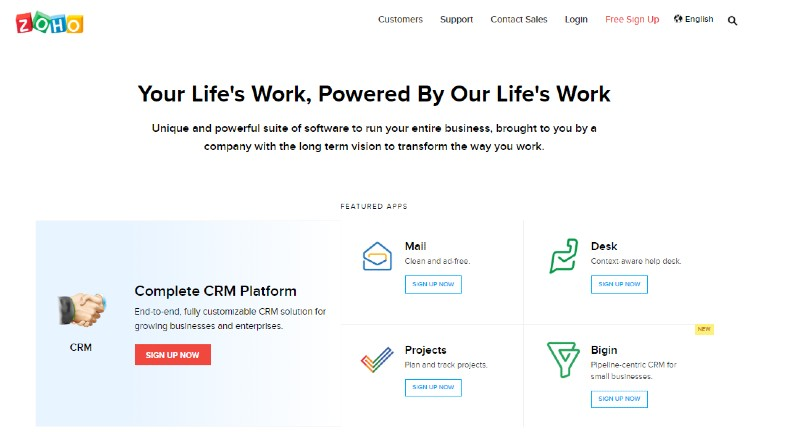 Zoho - Best Lead Management Software