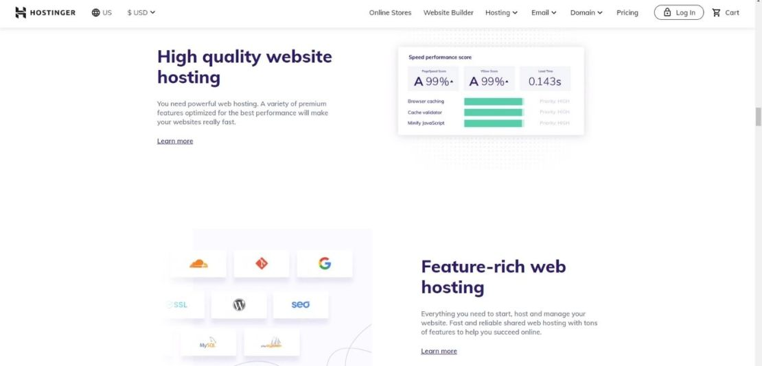 Shared Web Hosting Package
