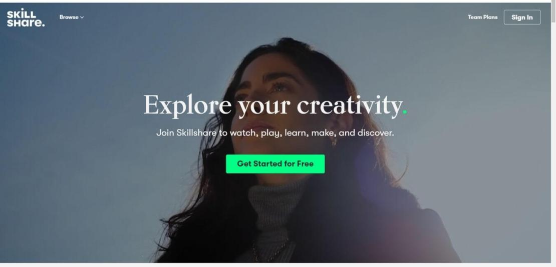 Explore your creativity on Skillshare